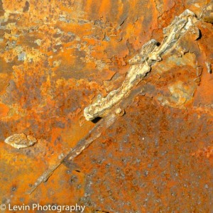 painterly rust slit cheryl levin